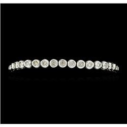2.50 ctw Diamond Tennis Bracelet - 18KT White Gold