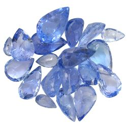 13.8 ctw Pear Mixed Tanzanite Parcel