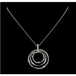 2.32 ctw Diamond Pendant With Chain - 14KT White Gold