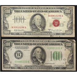 1934A $100 Federal Reserve & 1966A $100 Legal Tender Notes
