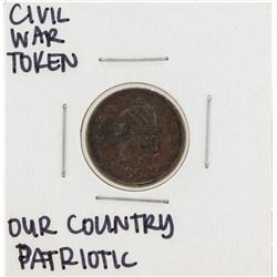 1863 Civil War Patriotic Token Our Country