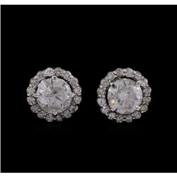 14KT White Gold 2.73 ctw Diamond Earrings