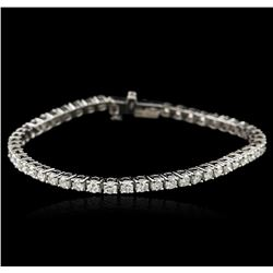 14KT White Gold 4.96 ctw Diamond Tennis Bracelet