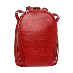 Louis Vuitton Red Epi Leather Mabillon Backpack Bag