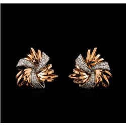 14KT Rose Gold 0.50 ctw Diamond Earrings