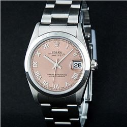 Rolex Stainless Steel Midsize DateJust Watch