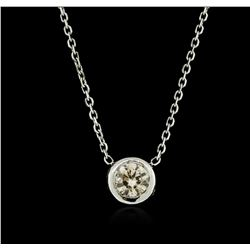 14KT White Gold 0.32 ctw Diamond Necklace