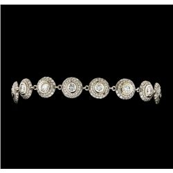 7.38 ctw Diamond Bracelet - 14KT White Gold