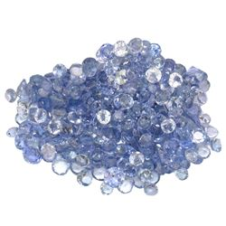 16.23 ctw Round Mixed Tanzanite Parcel