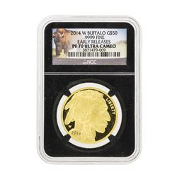 2014-W $50 American Buffalo Gold Coin NGC PS70 Ultra Cameo