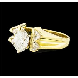 1.45 ctw Diamond Ring - 14KT Yellow Gold