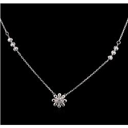 0.08 ctw Diamond Necklace - 14KT White Gold