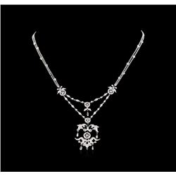 2.60 ctw Diamond Necklace - 18KT White Gold