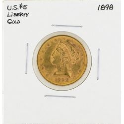 1898 $5 Liberty Head Half Eagle Gold Coin