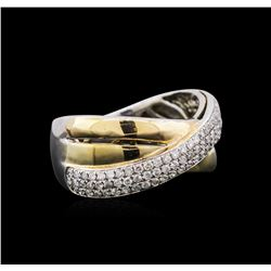 14KT Two-Tone Gold 0.47 ctw Diamond Ring