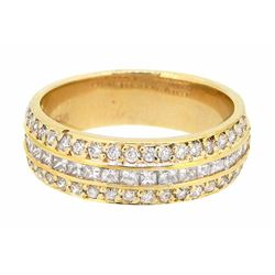 14KT Yellow Gold 0.85ctw Diamond Ring