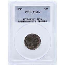 1936 Buffalo Nickel PCGS MS66