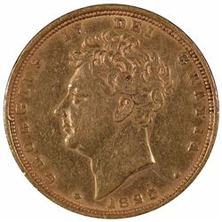 1825 Great Britain Gold Sovereign Coin