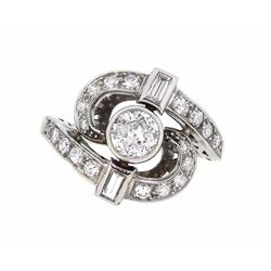 Platinum 1.51ctw Diamond Ring