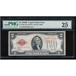 1928E $2 Legal Tender Note PMG 25