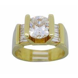 18KT Yellow Gold 2.01ctw Diamond Ring
