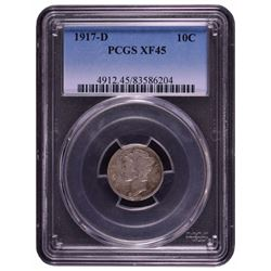 1917-D Barber Dime PCGS XF45