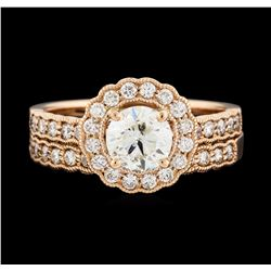 14KT Rose Gold 1.56ctw Diamond Ring