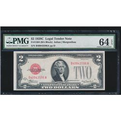 1928C $2 Legal Tender Note PMG 64EPQ