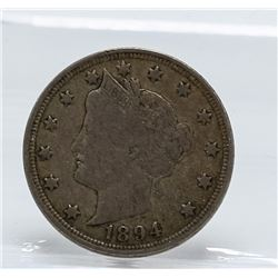 1894 Liberty Head V Nickel Coin