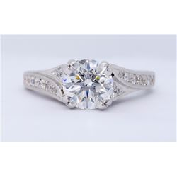 14KT White Gold 1.23ct GIA Cert Diamond Ring