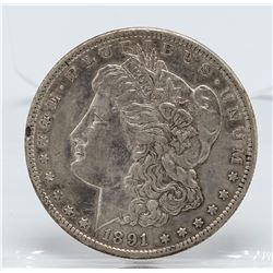 1891-CC $1 Morgan Silver Dollar Coin