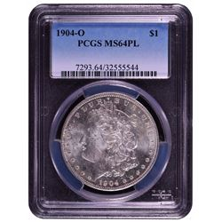 1904-O $1 Morgan Silver Dollar Coin PCGS MS64PL