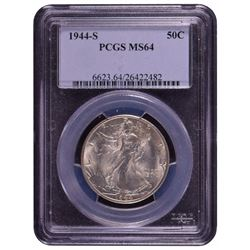 1944-S Walking Liberty Half Dollar Coin PCGS MS64