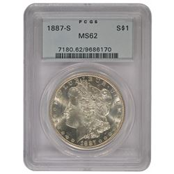 1887-S $1 Morgan Silver Dollar Coin PCGS MS62