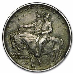 1925 Stone Mountain Memorial Commemorative Silver Half Dollar Coin