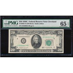 1950C $20 Cleveland Federal Reserve Note PMG 65EPQ