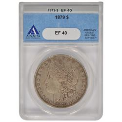 1879 $1 Morgan Silver Dollar Coin ANACS EF40