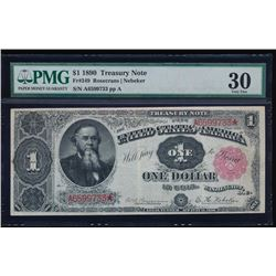 1890 $1 Treasury Note PMG 30