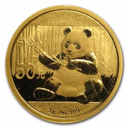 2017 50 Yuan China Panda 3 Gram Gold Coin