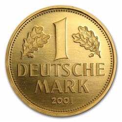 2001-G Deutsche Bundesbank 1 Deutsche Mark Gold Coin