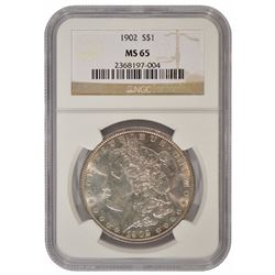 1902 $1 Morgan Silver Dollar Coin NGC MS65