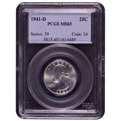1941-D Washington Quarter PCGS MS65