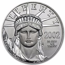 2002 $100 Platinum 1oz American Eagle Coin