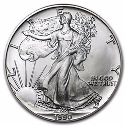 1990 1 oz American Eagle Silver Coin