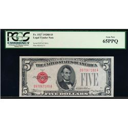 1928B $5 Legal Tender Note PCGS 65PPQ