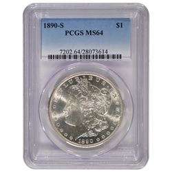 1890-S $1 Morgan Silver Dollar Coin PCGS MS64
