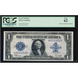 1923 $1 Silver Certificate PCGS 62