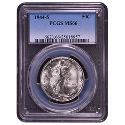 1944-S Walking Liberty Half Dollar Coin PCGS MS66