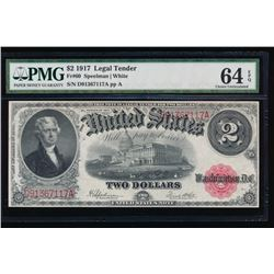 1917 $2 Legal Tender Note PMG 64EPQ