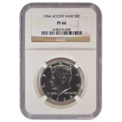 1964 Kennedy Half Dollar Accent Hair NGC PF66